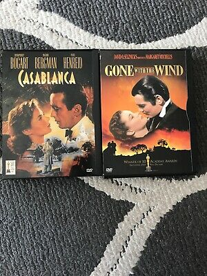 Gone With The Wind & Casablanca Dvd's
