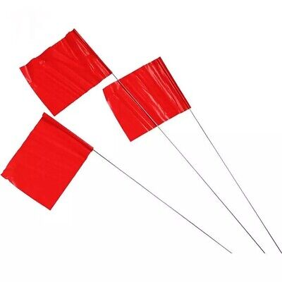 Red Flag Markers / Survey Flags, Bundle of 30
