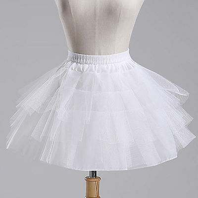 Flower Girl Dress Petticoat Crinoline Underskirt Short Brida Skirt Slip Wedding