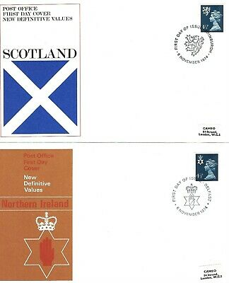 06/11/1974 - Set of 3 Regional Definitive Post Office FDC's, 4 1/2p