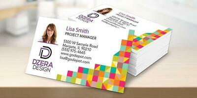 Full Color Gloss Custom Business Cards - FREE Ship & Layout - 1 or 2 Sides