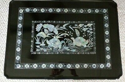 Incredible Asian Oriental Wood Coffee Table Inlaid W Abalone Mother Cjindustries Chair Design For Home Cjindustriesco