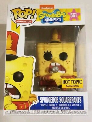 SPONGEBOB SQUAREPANTS BAND LEADER Funko Pop Animation #561 Hot Topic Exclusive