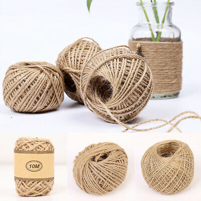 10/50/100M Natural Jute Twine String Rope Gift Wrapping Cord Thread Party Supply