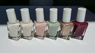 6 Essie Gel Couture Nail Polish Bridal Collection shower Wedding Party favor