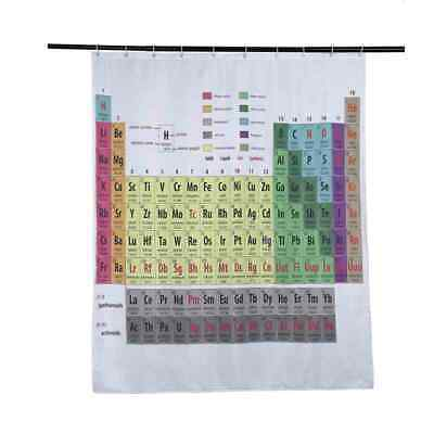 Periodic Table Of The Elements Shower Curtain Mildewproof Polyester WashablE8Z3