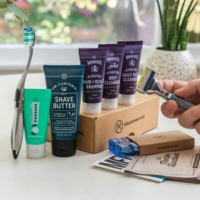 Dollar Shave Club The Shave Shower & Oral Care Starter Set New FREE SHIPPING!