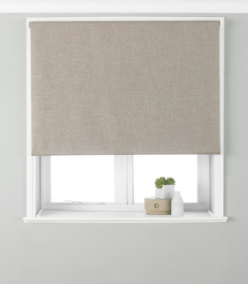 Riva Paoletti Eclipse Blackout Roller Blind - Natural Beige - Ready Made - - - -