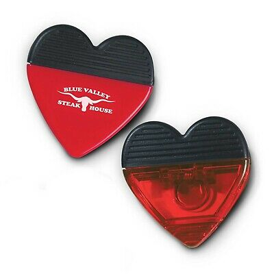 250 x Heart Clip/Stationery Bulk Gifts Promotion Business Merchandise