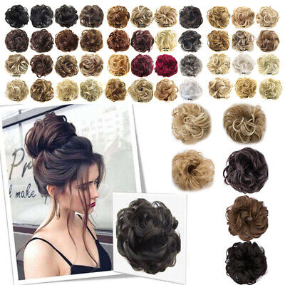 Elastic Wig Hair Ring Curly Scrunchie Bun Chignon Ponytail Hairpiece Chouchou