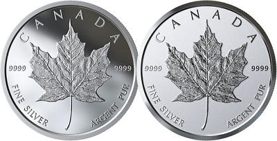 2019 Canada bullion maple leaf medallion pure silver - two finishes - in stock