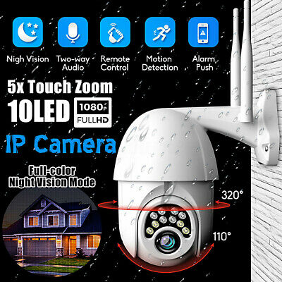 5X Zoom 1080P CCTV Camera Waterproof Outdoor WiFi PTZ Security Wireless IR Cam