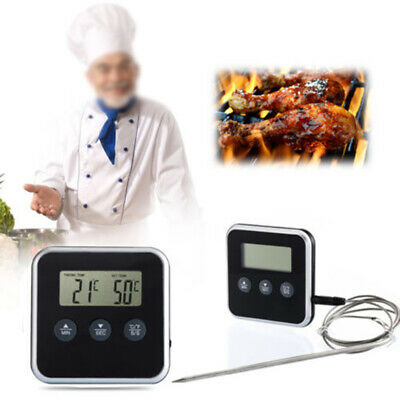 Digital Probe Meat BBQ Thermometer Oven Food Timer Kitchen Cooking Frying Tools