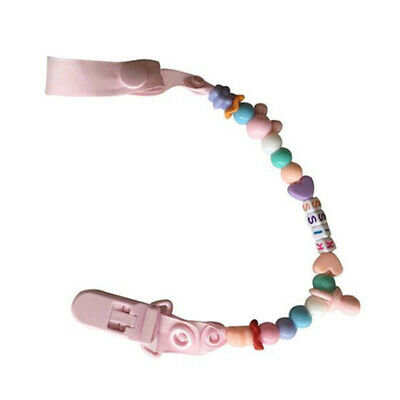 Cheap~Baby Wooden Beaded Pacifier Holder Clip Nipple Soother Dummy Strap Chain