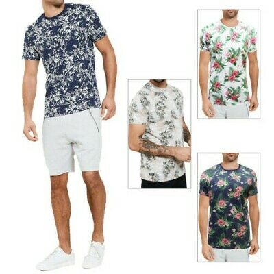 T-Shirt Hommes Manches Courtes Shirt O-Neck All-Over print Imprimé Camouflage Motif NEUF