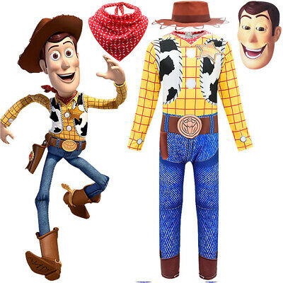 Woody Classic Sheriff Cowboy Disney Pixar Toy Story Toddler Boy Costume Jumpsuit