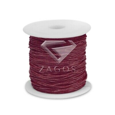 80m Waxed Cotton Cord Jewellery Making Beading Thread 1mm Wine Red Wholesale