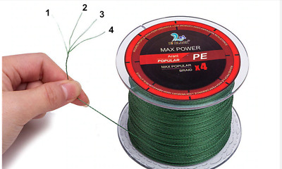 Braided fishing line 4 strands Super Strong Japan Multifilament PE braid