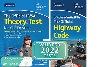 DVSA Driving Test Car Theory Book & Latest Edition Highway Code Book