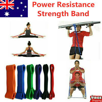 Power Resistance Strength Band - Rubber Chin Up Pull Up Training Exercise Gym AU