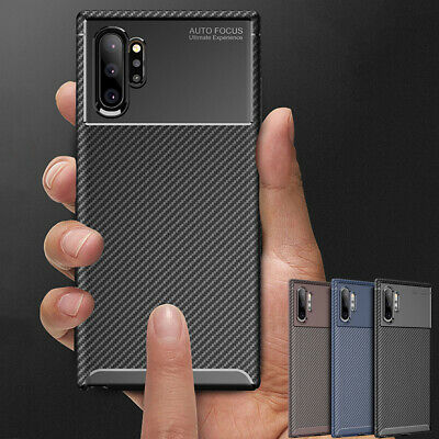 Slim Carbon Fiber Matte Case Cover For Samsung Galaxy Note 10 Plus 5G Shockproof