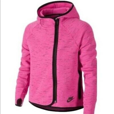 Nike Girls Tech Fleece Cape Hoodie Pink Size XL JS098 FF 03
