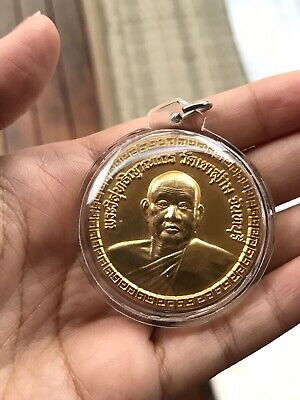 100% Genuine Thai Amulet - LP SomChai Coin Amulet