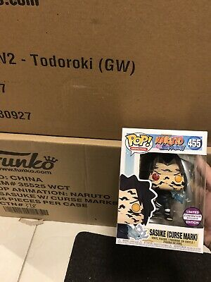 **IN HAND** CONVENTION Funko Pop! Naruto Shippuden Sasuke (Curse Mark) #455