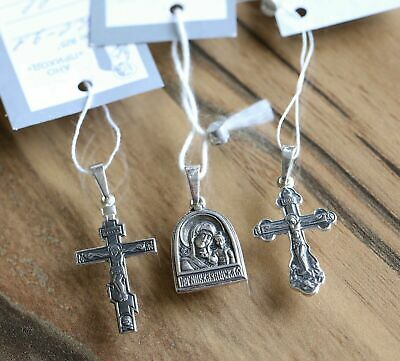 Antique Christian Save and Protect Prayer 3 Item Set Silver 925 Russian Orthodox