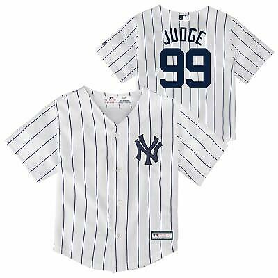 Outerstuff  MLB Toddler New York Yankees Aaron Judge #99 Cool Base Home Jersey