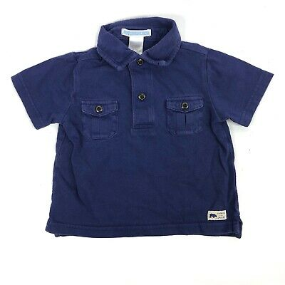 Janie and Jack Baby Boy Blue Polo Short Sleeve Shirt 6-12 Months
