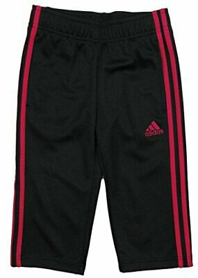 Adidas Youth Girls Climalite Athletic Work Out Capri Pants, Black/Vivid Berry