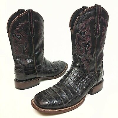 d989f965720 LUCCHESE HANDMADE CLASSIC Mens Black Belly Caiman Crocodile Shorty ...