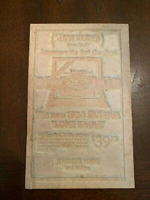 The New 1934 Bulova Watch Lone Eagle Advertising Newspaper Flong Print Mat Mold