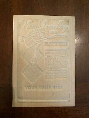 circa 1934 Jewelry Store Easter Advertising Newspaper Flong Print Mat Mold