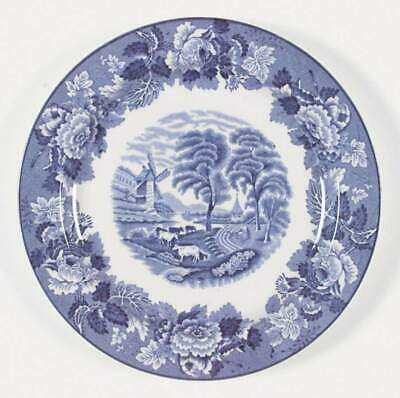 Wood & Sons ENGLISH SCENERY BLUE Luncheon Plate 773770