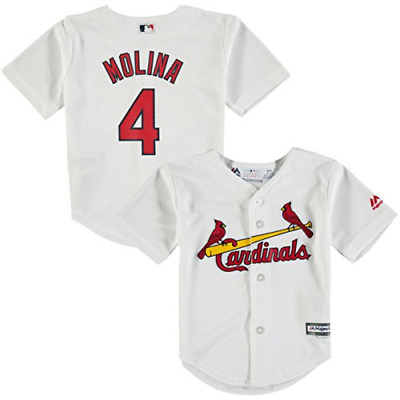 MLB Yadier Molina #4 St Louis Cardinals Toddler Cool Base Home Replica Jersey