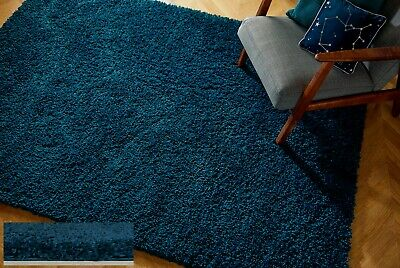 Small - Extra Large Thick Chunky Super Soft Dense Deep Pile Blue Shaggy Rug