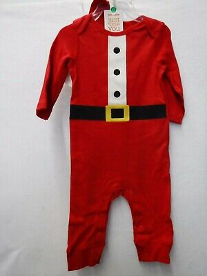 Boys 9 Months Carter's Santa Suit Christmas Sleeper With Hat Pajamas New #16340