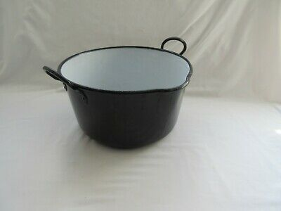 Vintage black cast iron jam preserving pan saucepan ideal for crafts / display