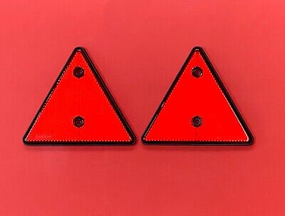1 Pair Red Triangle Reflectors for Driveways,Fences,Posts,Garden Walls etc