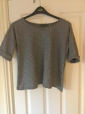 Mothercare Blooming Marvellous Maternity Black White Cross Cropped Jumper Size 8