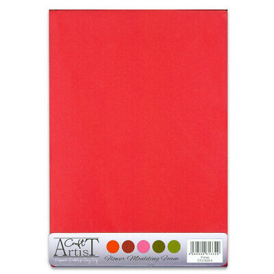 CRAFT ARTIST Flower Moulding Foam 10 x A4 Sheets 2 of each colour XMAS CT27829-5