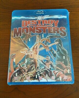 Destroy All Monsters Godzilla Mothra King Ghidorah Today Bluray Brand New Sealed