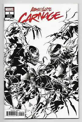Absolute Carnage #1 Marvel Comics 2019 Mike Deodato Sketch B&W Variant Cover