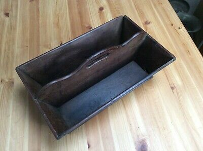 Antique Victorian Mahogany Old Cutlery Double Tray