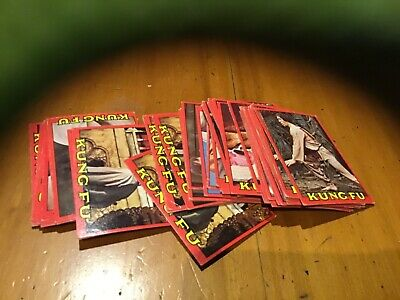 Old Kung Fu 1970s trading cards x 50 nos 45 to 60 lots of doubles