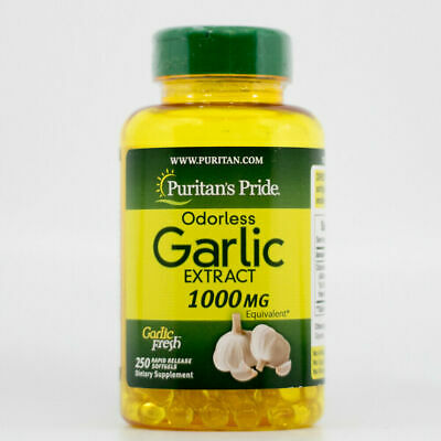 250 Pills ODORLESS GARLIC EXTRACT 1000mg Softgels Capsules - Puritan's Pride