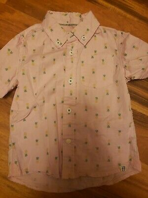 Sovereign Codes Boys 24 Month Pink Pineapple Button Up Shirt