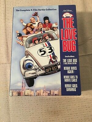 Herbie The Love Bug Complete 4-Flim Herbie Collection DVDs 3 Out of 4 Unopened